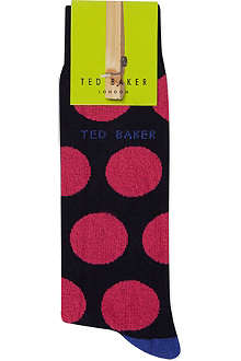 TED BAKER Large spot sock