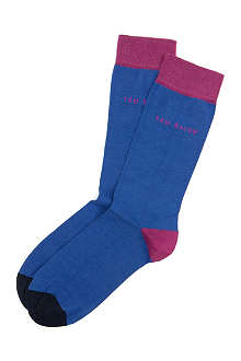 TED BAKER Chochip colour-blocked socks
