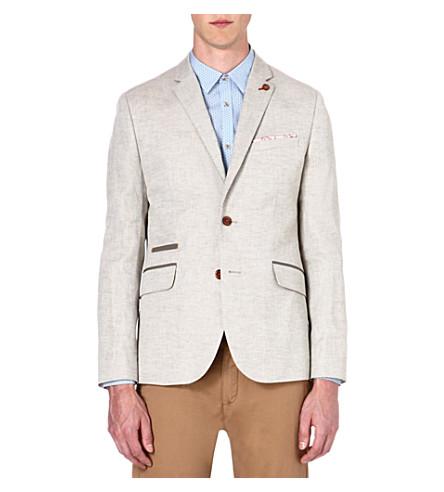 TED BAKER Dainy linen-blend blazer (Natural