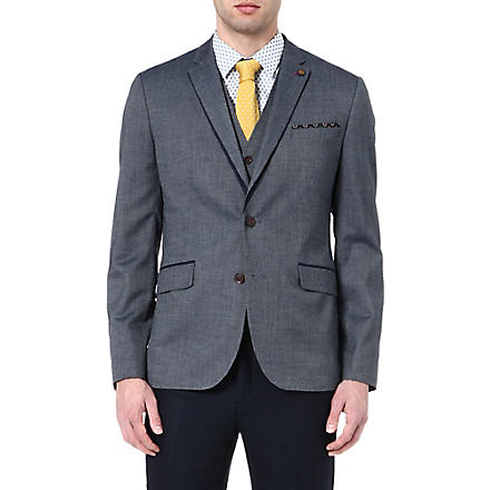TED BAKER Textured blazer (Blue