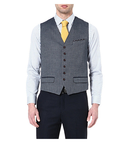 TED BAKER Textured waistcoat (Blue