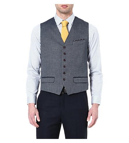 TED BAKER Textured waistcoat (Blue