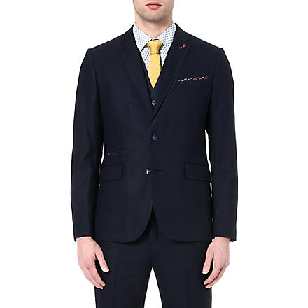 TED BAKER Textured blazer (Navy