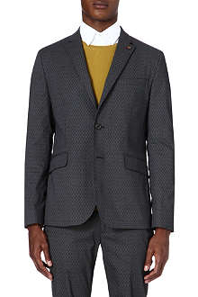 TED BAKER Oakjak printed cotton blazer