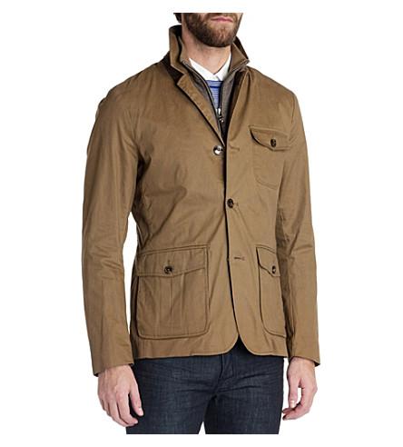 TED BAKER Greleaf cotton coat (Brown