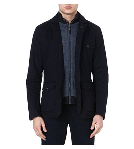TED BAKER Greleaf cotton coat (Navy