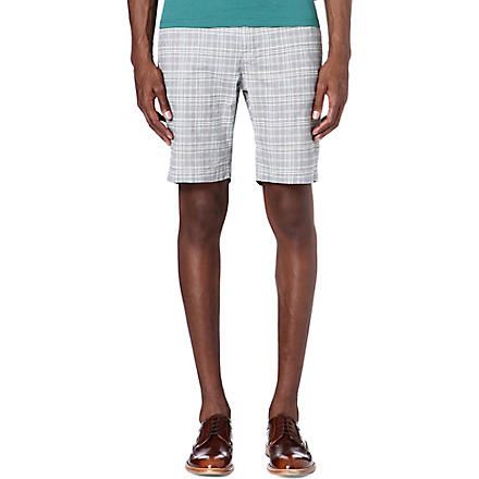TED BAKER Treeber cotton shorts (Blue