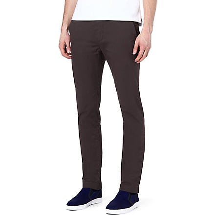 TED BAKER Mordord slim-fit chinos (Charcoal