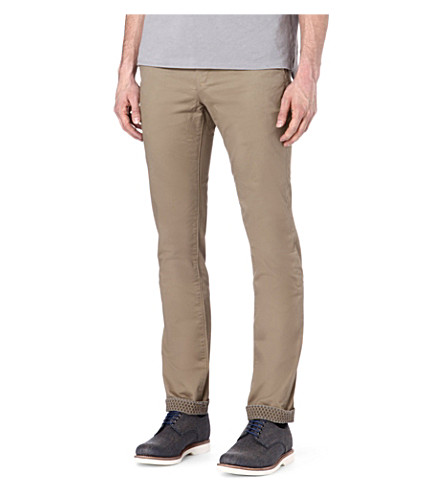 TED BAKER Mordord slim-fit chinos (Natural
