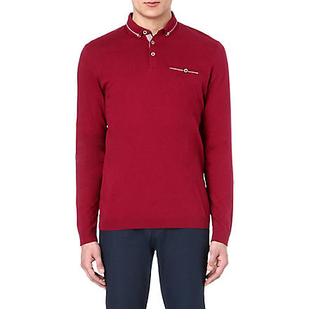 TED BAKER Long sleeve polo shirt (Pink