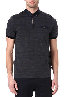 TED BAKER Vinfair jacquard polo shirt