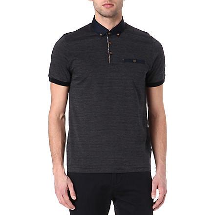 TED BAKER Vinfair jacquard polo shirt (Navy