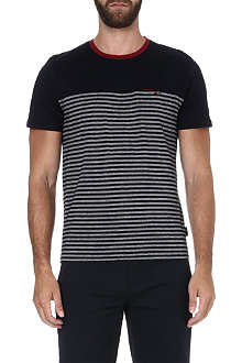 TED BAKER Santmon half-stripe cotton t-shirt
