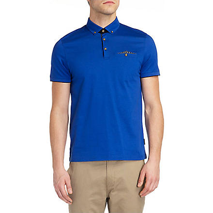 TED BAKER Skybar jersey polo shirt (Blue