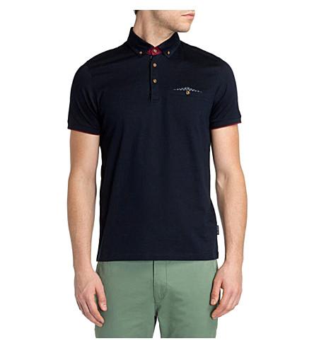 TED BAKER Skybar jersey polo shirt (Navy