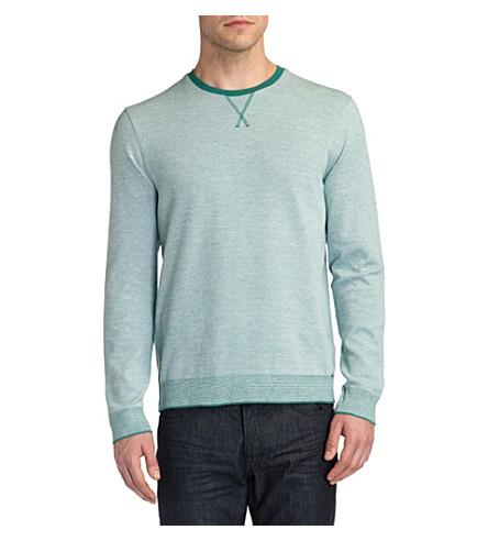 TED BAKER Lakerz contrast-rib jumper (Jade