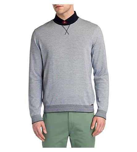 TED BAKER Lakerz contrast-rib jumper (Navy