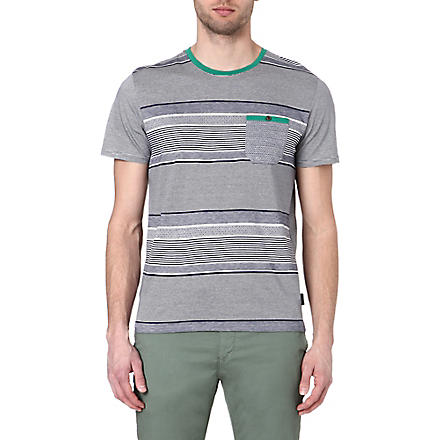 TED BAKER Gervey stripe t-shirt (Navy
