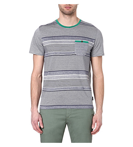 TED BAKER Gervey stripe t-shirt (Navy