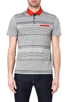 TED BAKER Striped cotton polo shirt