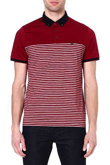 TED BAKER Sunnset striped polo shirt