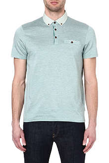 TED BAKER Delrey woven collar polo shirt