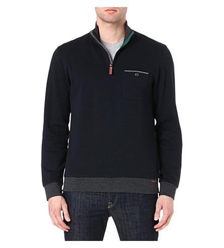 TED BAKER Zip-neck top (Navy
