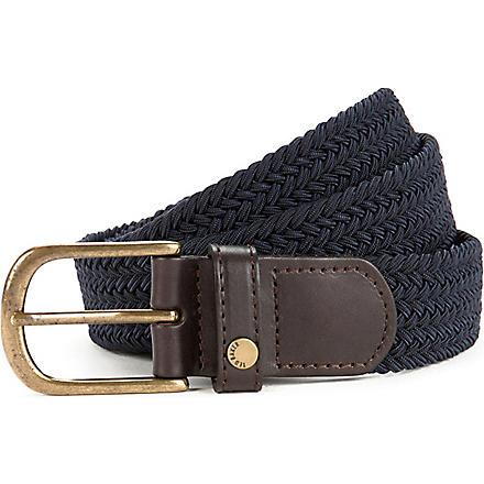 TED BAKER Lastie elastic colourblock belt (Navy