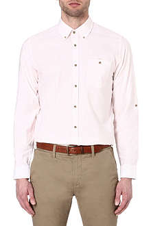 TED BAKER Roll sleeve cotton shirt