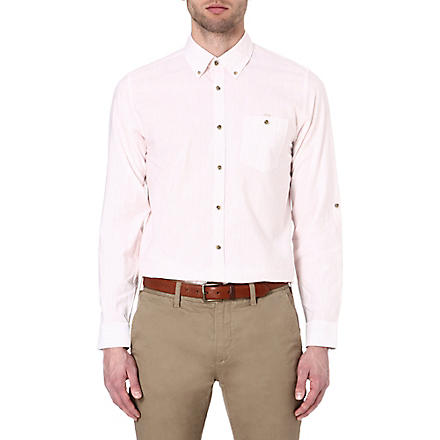 TED BAKER Roll sleeve cotton shirt (Orange