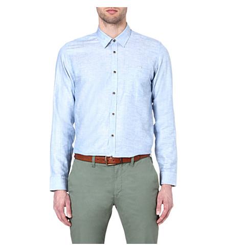 TED BAKER Forever linen shirt (Blue