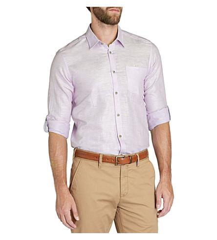 TED BAKER Forever linen shirt (Lilac