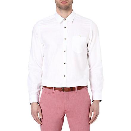 TED BAKER Forever linen shirt (White