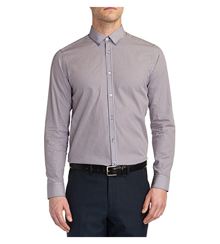 TED BAKER Whodoes circle-print shirt (Navy