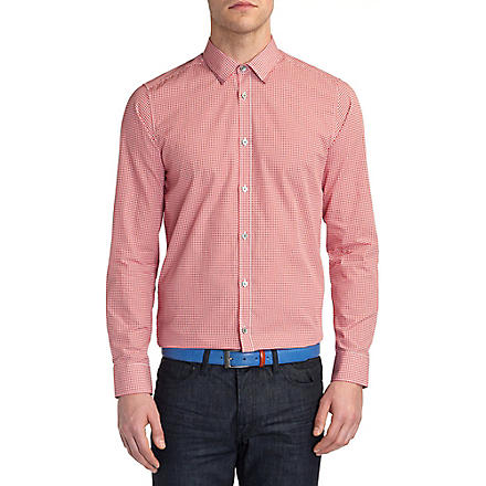 TED BAKER Whodoes circle-print shirt (Red