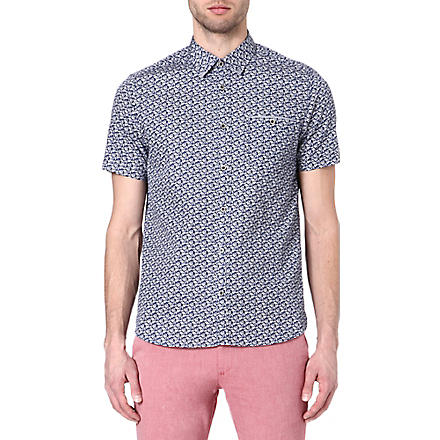 TED BAKER Yurtamp plant print shirt (Blue