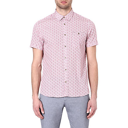 TED BAKER Yurtamp plant print shirt (Red