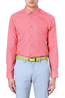 TED BAKER Cross hatch printed shirt