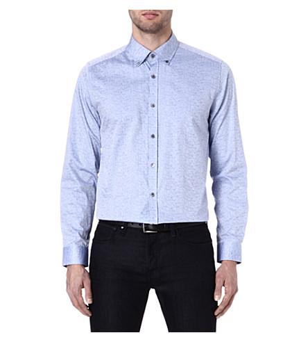 TED BAKER Jakmove floral jacquard shirt (Blue