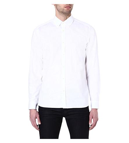 TED BAKER Jakmove floral jacquard shirt (White
