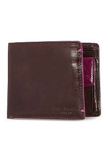 TED BAKER Painted bifold coin wallet
