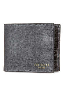 TED BAKER Cross grain bifold wallet
