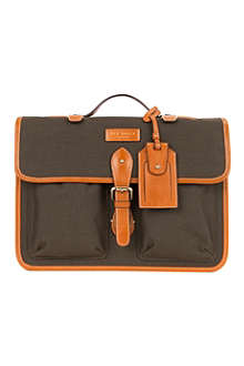 TED BAKER Dollah leather-trimmed satchel bag