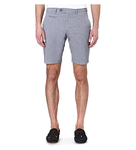 TED BAKER Oxshor cotton shorts (Navy