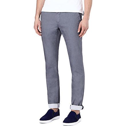 TED BAKER Twiltro cotton twill trousers (Navy