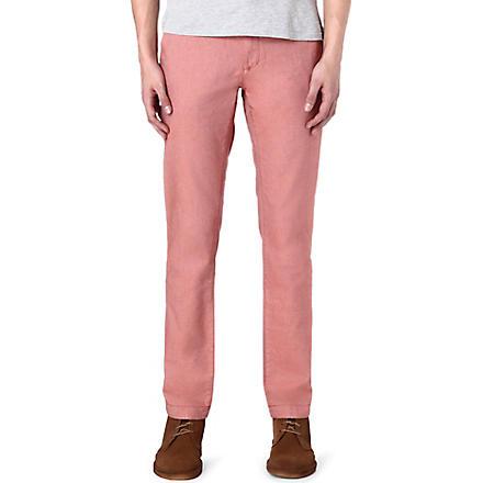 TED BAKER Twiltro cotton twill trousers (Orange