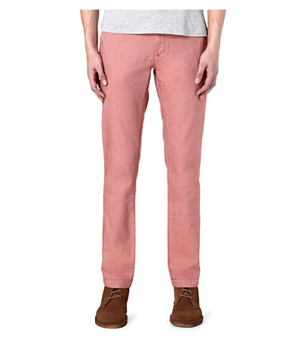 TED BAKER Twiltro cotton twill trousers (Orange