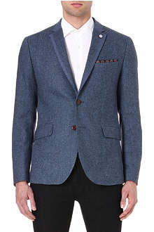 TED BAKER Contrast panel wool jacket