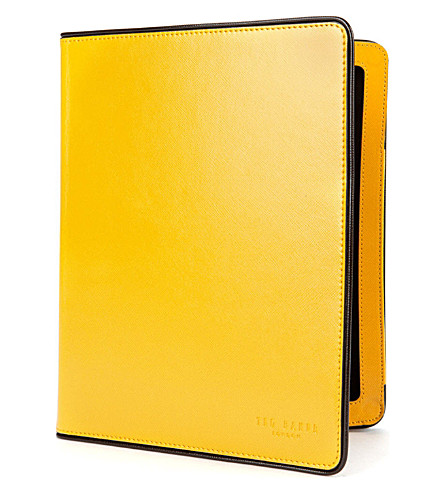 TED BAKER Bright tablet case (Yellow
