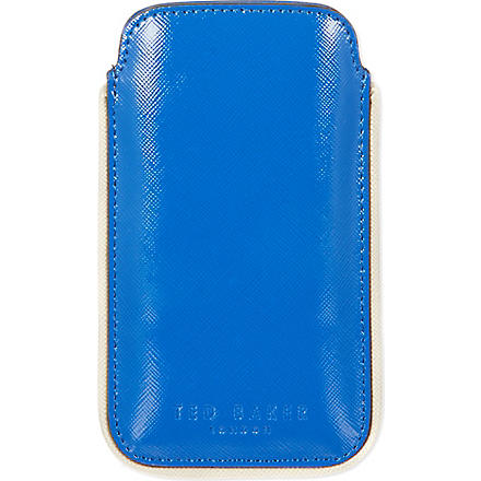 TED BAKER Highlight detail phone case (Blue
